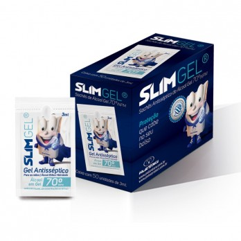 SLIM GEL KIT 50 SACHES DE ALCOOL EM GEL 3ML